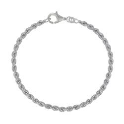 Bracelet Argent Mailles Corde 2mm
