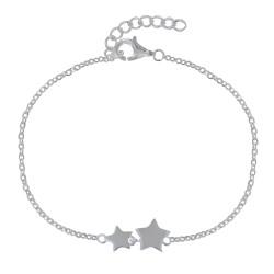 Bracelet Argent Deux Etoiles