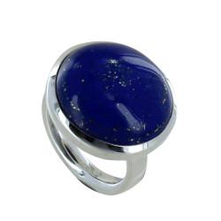 Bague Argent Gros Rond de Lapis Lazuli