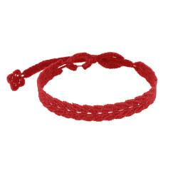 Cruciani Bracelet Homme Dentelle Prospérité Rouge