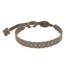 Cruciani Bracelet Homme Dentelle Prospérité Marron