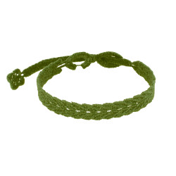 Cruciani Bracelet Homme Dentelle Prospérité Vert