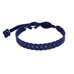 Cruciani Bracelet Homme Dentelle Prospérité Bleu Navy