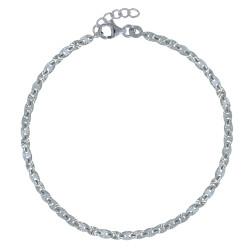 Bracelet Argent Rhodié Médailles Soleil